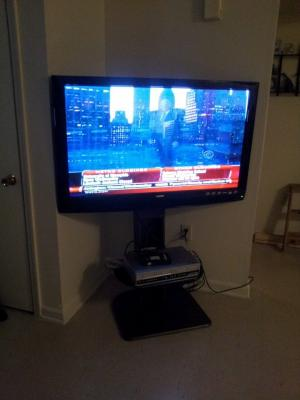 Ameriwood Home Galaxy Tv Stand With Mount For Tvs Up To 50 Wide