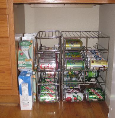 12 Beer Soda Coke Soup Can Dispenser Storage Rack Refrigerator Kitchen Organizer