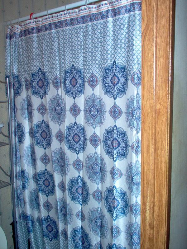 Mainstays Mink Medallion Velvet Shower CurtainMS8044409620-02