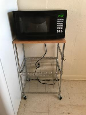 Whitmor Supreme Microwave Cart Wood