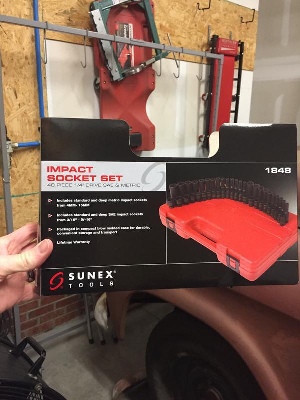 "Sunex 3//4/"" IMPACT Sockets SAE METRIC 6pt Shallow Standard MM NEW Tools You Pick"