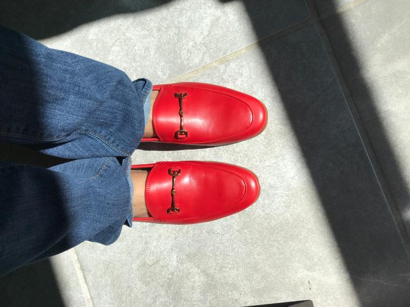 Sam Edelman Loraine Loafer Lipstick Red