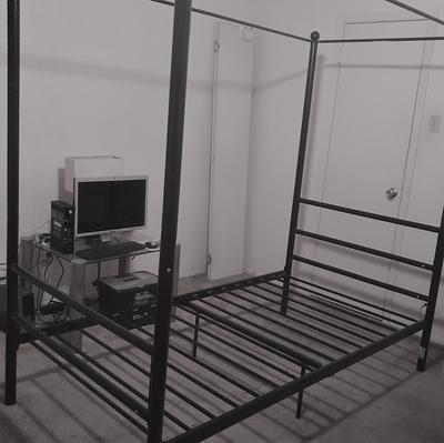Mainstays Metal Canopy Bed Queen, Modern Canopy Queen Metal Bed Instructions