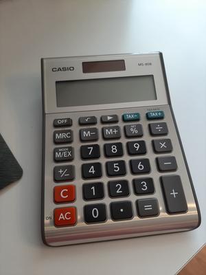 CASIO Tischrechner MS-80 VER II Solar-// Batteriebetrieb