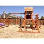 Backyard Discovery Montpelier Cedar Wooden Swing Set ...