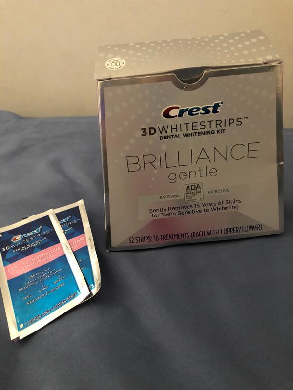 Crest 3d Whitestrips Brilliance Gentle Teeth Whitening Kit 32