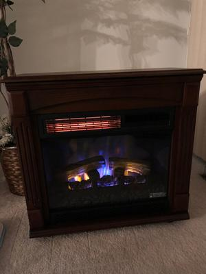 Awesome Chimneyfree Rolling Mantel Infrared Quartz Electric Fireplace Space Heater Download Free Architecture Designs Photstoregrimeyleaguecom