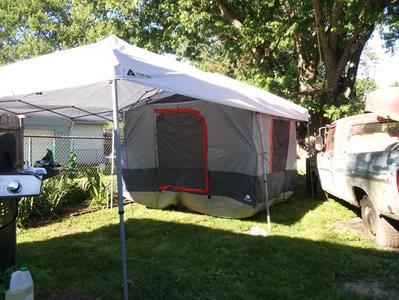 200 Sq. ft Coverage Ozark Trail 20/' x 10/' Straight Leg Instant Canopy