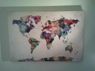 Urban Watercolor World Map.Trademark Art Urban Watercolor World Map Canvas Art By Michael