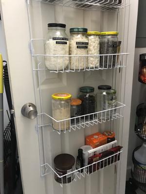 Closet Organizer W 6 Shelves Over The Door Pantry Organizer And Bathroom Organizer By Lavish Home Walmart Com Walmart Com