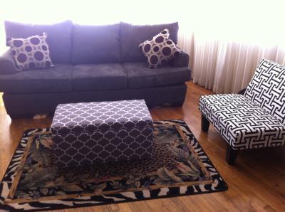 Marvelous Kebo Chair Black And White Geometric Pattern With Dark Leg Short Links Chair Design For Home Short Linksinfo