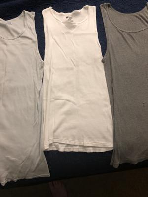 $107 Hanes Platinum Men/'S White 6-Pack Tagless Ribbed Undershirt Tank Top Size S