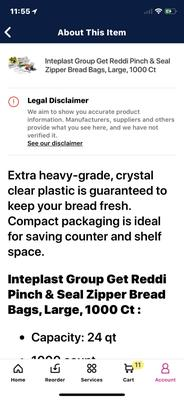 4 x 2 x 8-1000 Count Get Reddi Poly Food Storage Plastic Bags Pint Size