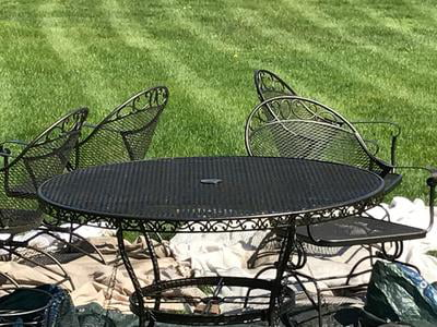 Better Homes And Gardens Wrought Iron, Used Rod Iron Outdoor Furniture
