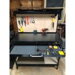 Hyper Tough 46 Inch Easy Assembly Workbench With Led Light Peg Hooks