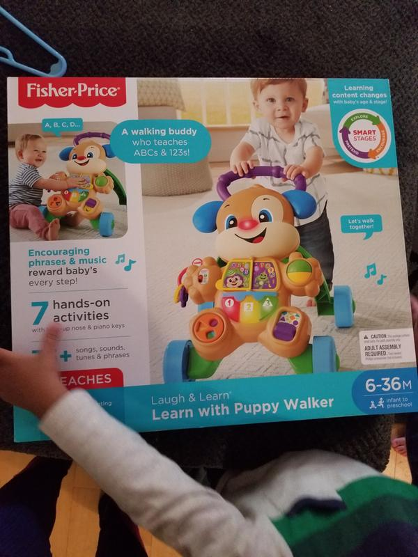 Baby Toddler Toys Laugh /& Learn Smart Stages Learn with Puppy Walker New