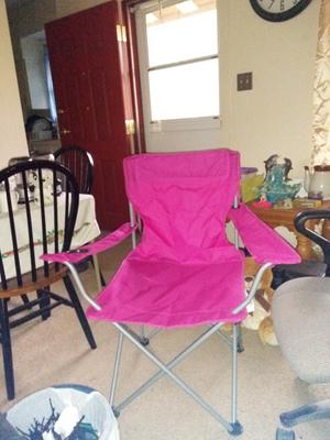 Ozark Trail Pink Deluxe Folding Camping Arm Chair ZM110905Y