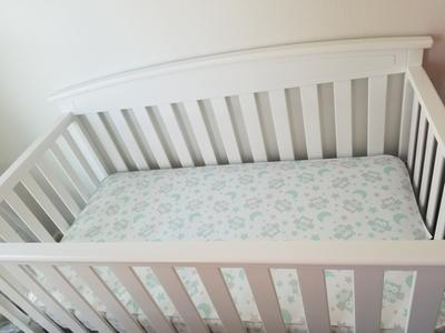 BABY CRIB MATTRESS Toddler Innerspring Pediatric Comfort Sleep Owl Mint Design