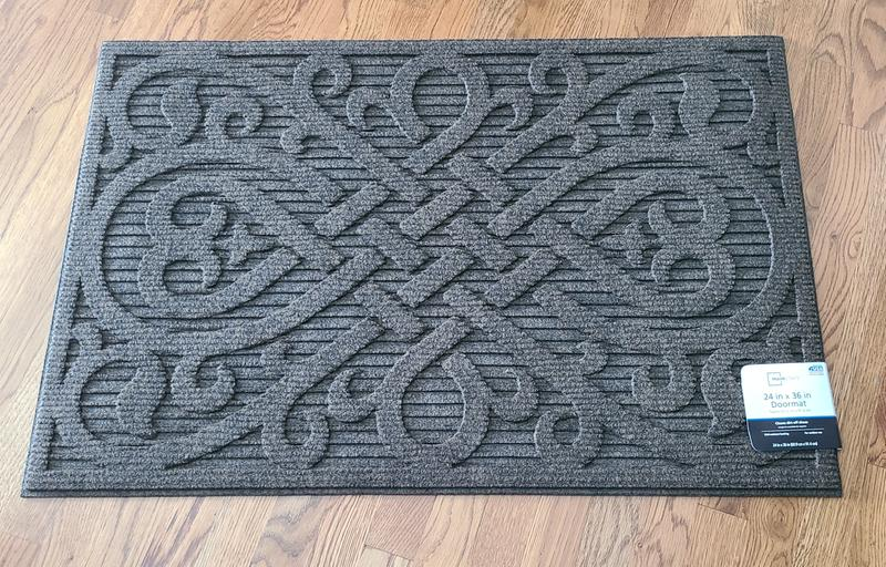 Mainstays Fleur De Lies Outdoor Doormat Brown 24 X 36 Walmart Com Walmart Com