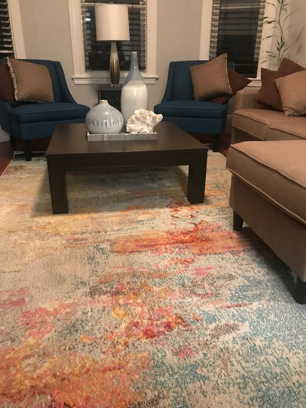 Nourison Celestial Abstract Abstract Sealife Area Rug