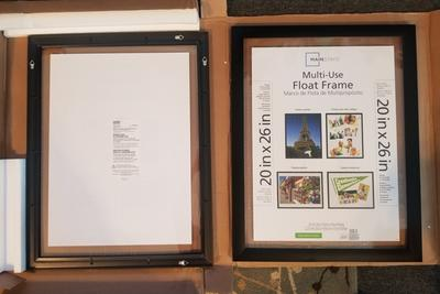 Mainstays 20x26 Multi Use Float Poster And Picture Frame Black Set Of 2