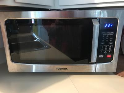 Toshiba Ec042a5c Chss 1 5 Cu Ft Stainless Steel Convection Microwave Walmart Com Walmart Com