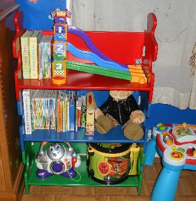 KidKraft Puzzle Bookshelf Red Blue Green Or Purple White Pink