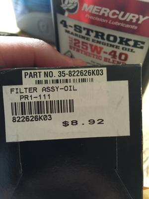 Quicksilver 8M0065103 Oil Filter