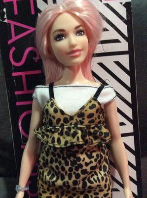 Barbie Doll Fashionistas Brown Animal Print Dress With Peplum 12 Inch