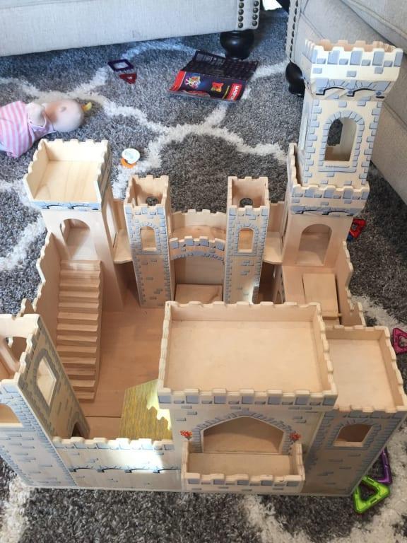 "15pc Estia Large Wooden Medieval Castle Fantasy Playset 40 x 30 x 18/"""