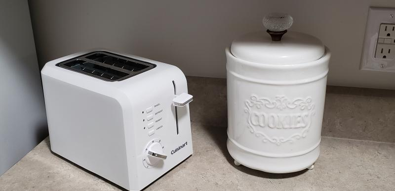 Cuisinart Plastic Compact 2 Slice White Toaster Walmart Com Walmart Com