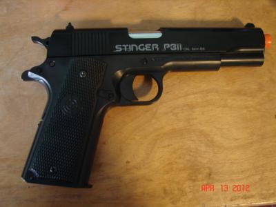 Crosman ASP311B Stinger Air Pistol Semi-Automatic 6mm Airsoft Black