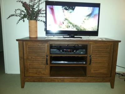 Sauder Select Panel Tv Stand For Tvs Up To 47 Milled Cherry