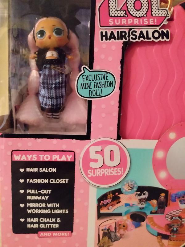 LOL Surprise •HAIR SALON PLAYSET• With 50 Surprises /& Exclusive J.K.Doll