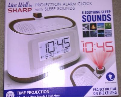 Sharp SPC570 Ceiling Time Projection Alarm Clock With 9 Different Nature Sounds