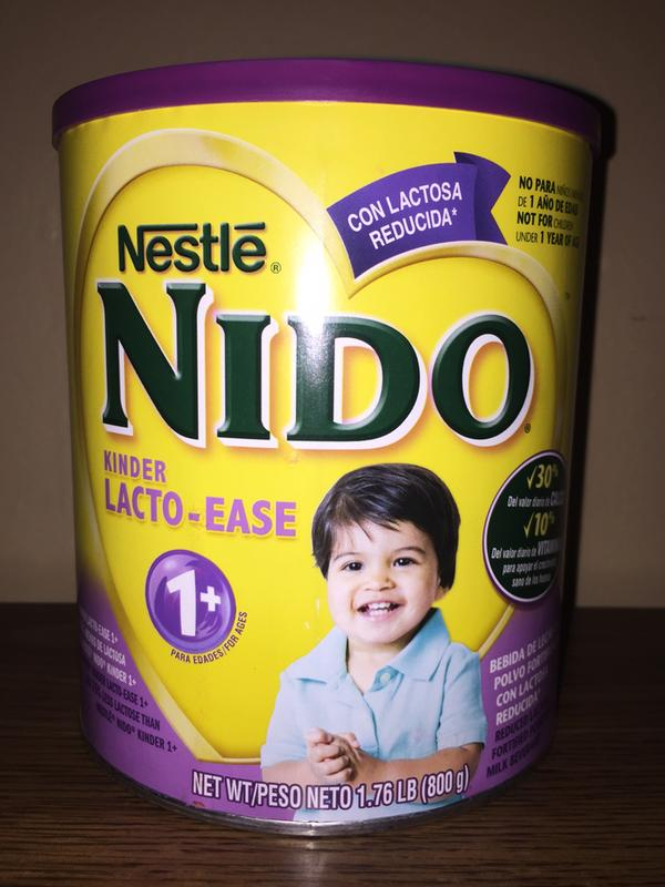 NIDO Kinder Lacto-Ease 1+ Reduced Lactose Fortified Powdered Milk Beverage  1 76 lb  Canister