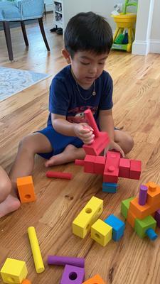 Kindergarten Foam blocks 7 elements set Playroom