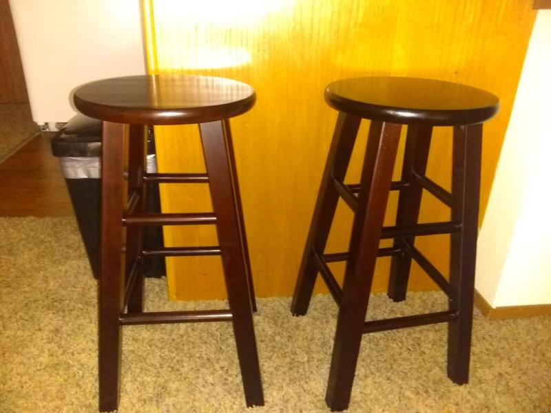 Astounding Winsome Wood Pacey 29 Bar Stools Set Of 2 Walnut Ibusinesslaw Wood Chair Design Ideas Ibusinesslaworg