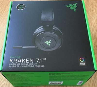 Razer Kraken 7 1 V2 - USB Gaming Headset with 7 1 Surround Sound (Black)