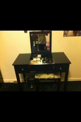 Vanity Set With Butterfly Bench White Walmart Com