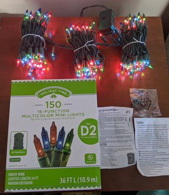 150 Clear Mini Lights w 16 Functions Christmas Lights Wedding Patio Lights