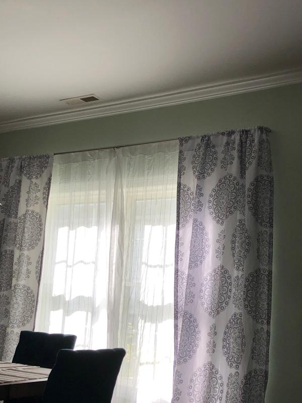 umbra 28 48 twilight 3 4 room darkening double curtain rod nickel