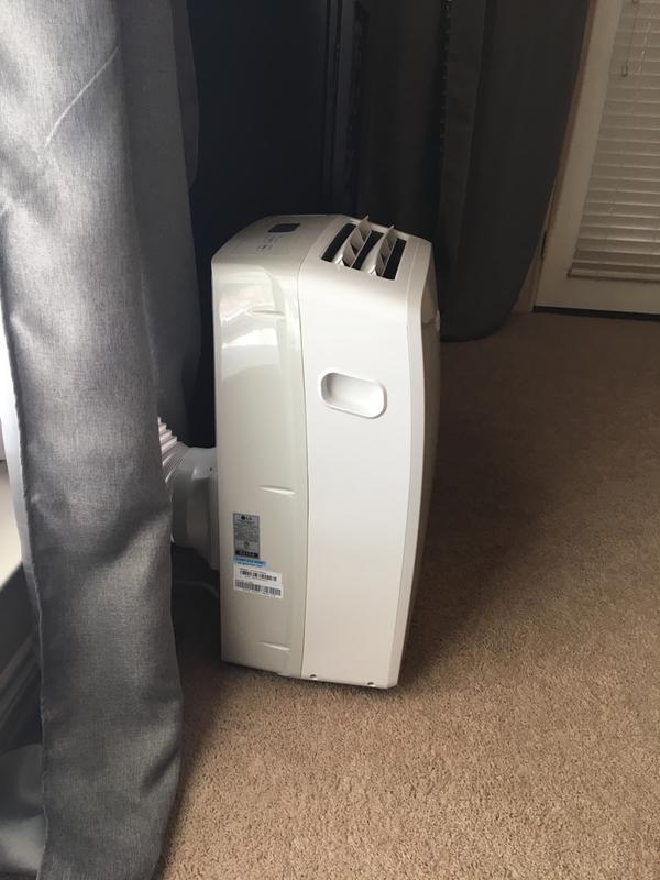 LG 10,200 BTU 115V Portable Air Conditioner with Remote Control, White