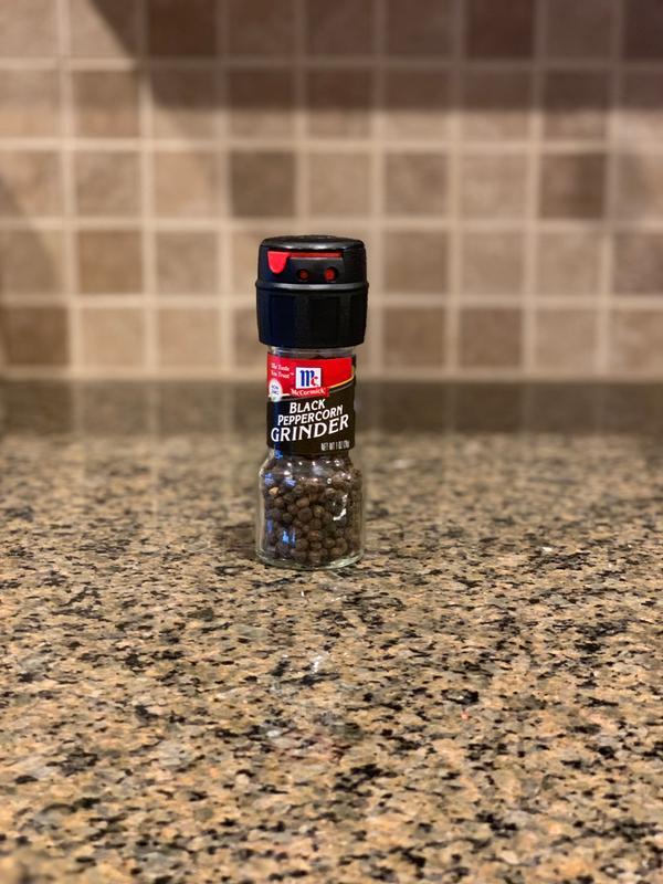 online store 26b2b ffccf McCormick Black Pepper Grinder, Adjustable Coarseness, 1 oz - Walmart.com