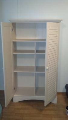 Sauder Harbor View Storage Cabinet in Antiqued White