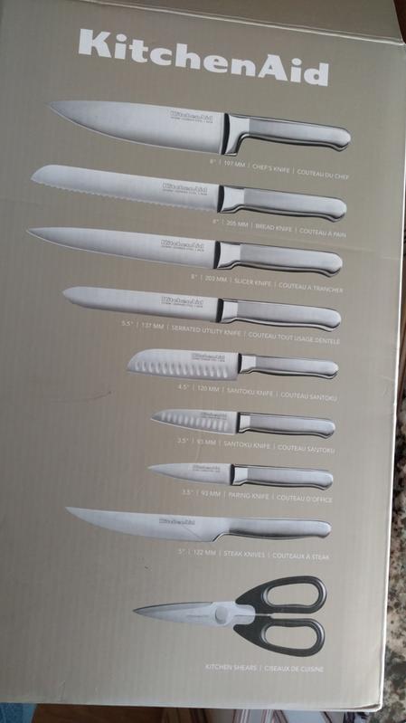 Kitchenaid Classic Forged 14 Piece Triple Rivet Cutlery Set Onyx Black Walmart Com Walmart Com