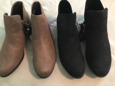 Women's Time /& Tru Black Booties  Sizes 6-8 Med