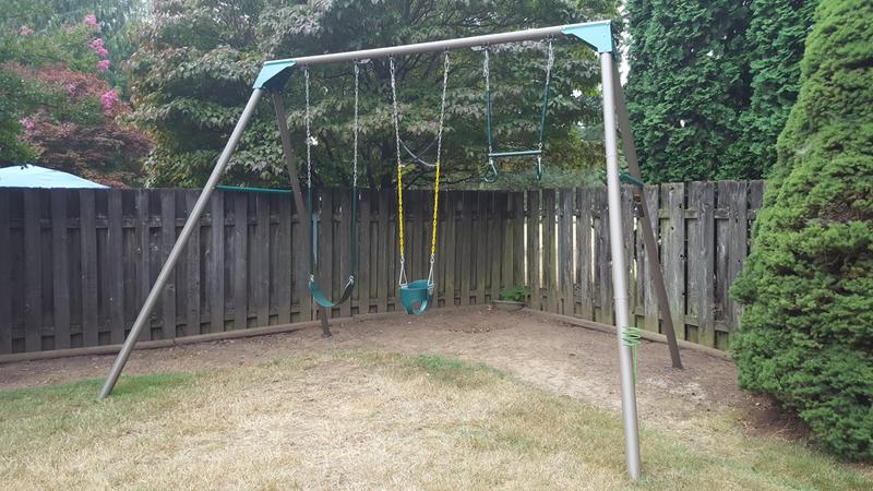 Lifetime 10 Foot Metal Swing Set Earthtone 290038 Walmart Com