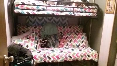 Acme Eclipse Twin Over Full Futon Bunk Bed Multiple Colors Walmart Com Walmart Com
