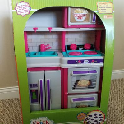 Spark Create Imagine Play Kitchen With 18 Piece Accessory Play Set Pink Walmart Com Walmart Com